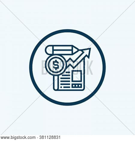 Data Analysis Icon Isolated On White Background From Industrial Process Collection. Data Analysis Ic