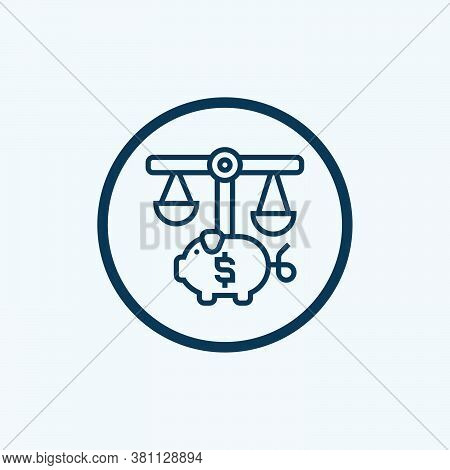 Balance Scale Icon Isolated On White Background From Banking And Finance Flat Icons Collection. Bala