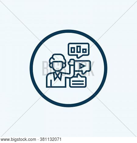 Presentation Icon Isolated On White Background From Work From Home Collection. Presentation Icon Tre