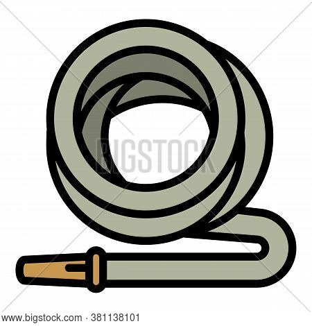 Garden Irrigation Hose Icon. Outline Garden Irrigation Hose Vector Icon For Web Design Isolated On W