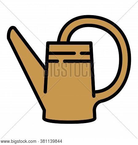 Gardening Plastic Watering Can Icon. Outline Gardening Plastic Watering Can Vector Icon For Web Desi