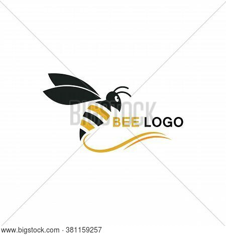 Bee Logo Template Vector Icon Illustration Design