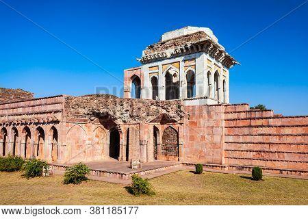 Ashrafi Mahal Palace In Mandu Ancient City Madhya Pradesh State Of India