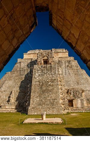 Unique And Beatiful Uxmal Ruins In Yucatan Peninsula Of Mexico