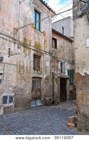 Alleyway. Calcata. Lazio. Italy.
