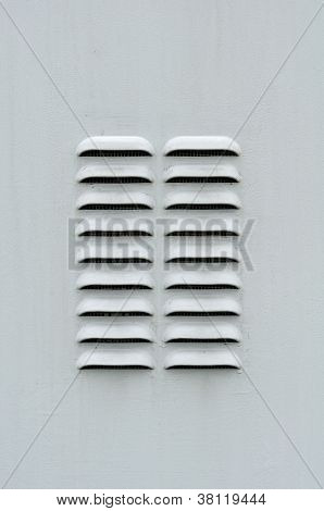 Gray Metal Ventilation Louver