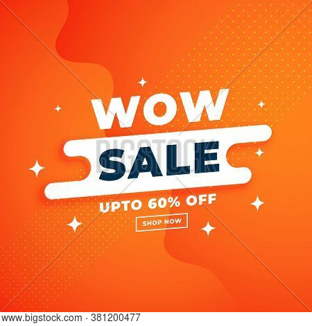 Orange Attractive Sale Banner For Online Shopping