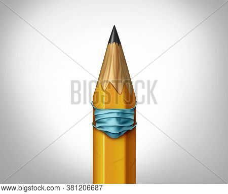 Education Health Safety And School Safety And Student Medical Symbol As A Learning Tool Pencil Weari