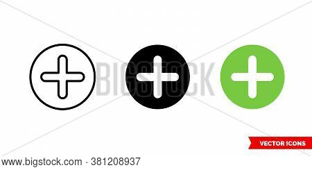 Additional Icon Of 3 Types Color, Black And White, Outline. Isolated Vector Sign Symbol.