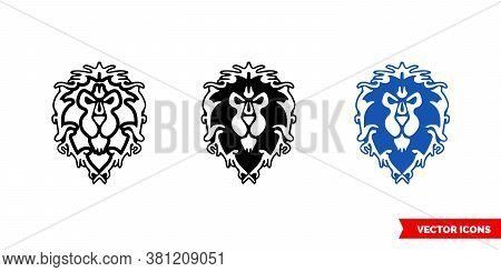 Alliance Symbol Icon Of 3 Types Color, Black And White, Outline. Isolated Vector Sign Symbol.