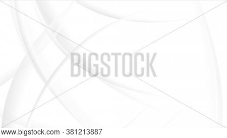 White abstract flowing waves background