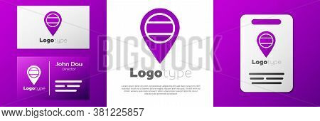 Logotype Location Russia Icon Isolated On White Background. Navigation, Pointer, Location, Map, Gps,