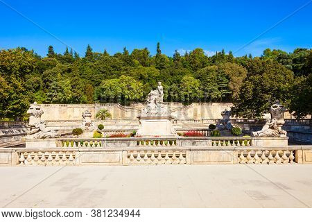 Les Jardins De La Fontaine Is A Public Park Located In Nimes City In Southern France