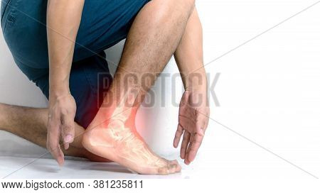 Inflammation bone ankle of humans with inflammation.
