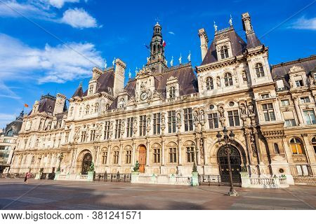 City Hall Or Hotel De Ville Is The Building Housing The Citys Local Administration In Paris, France