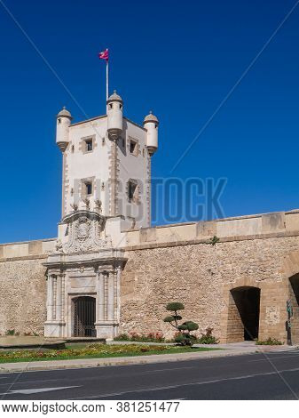 Fortification Of The Puertas Tierra In Cadiz Capital, Andalusia. Spain. Europe. August 16, 2020