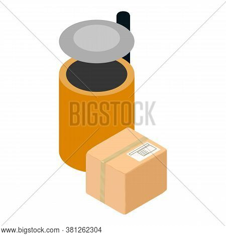 Concept Disposal Icon. Isometric Illustration Of Concept Disposal Vector Icon For Web