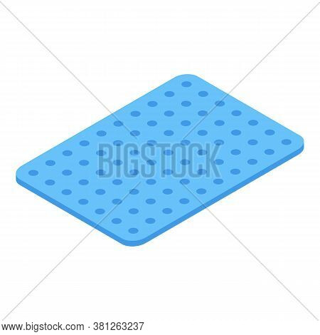 Bathroom Carpet Icon. Isometric Of Bathroom Carpet Vector Icon For Web Design Isolated On White Back