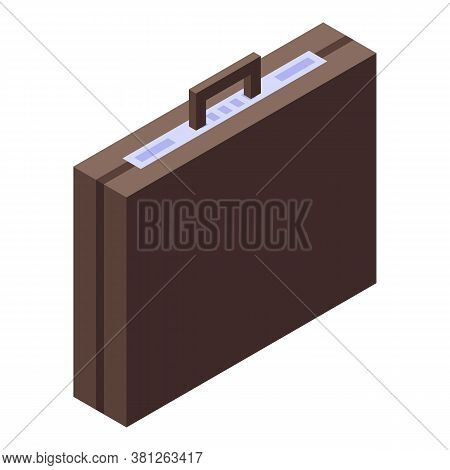 Subsidy Suitcase Icon. Isometric Of Subsidy Suitcase Vector Icon For Web Design Isolated On White Ba