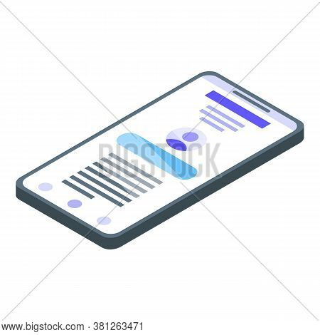 Subsidy Smartphone Icon. Isometric Of Subsidy Smartphone Vector Icon For Web Design Isolated On Whit