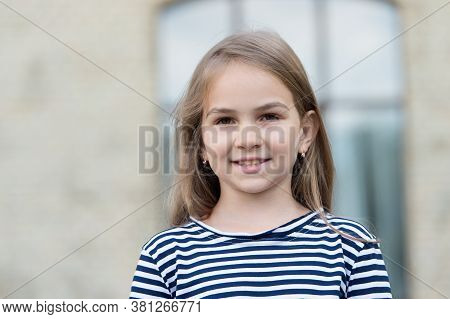 Better Skincare, Beautiful Skin. Beauty Look Of Little Girl. Happy Child Urban Outdoors. Baby Skinca