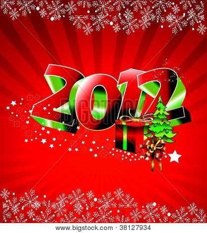 2012 number christmas vector