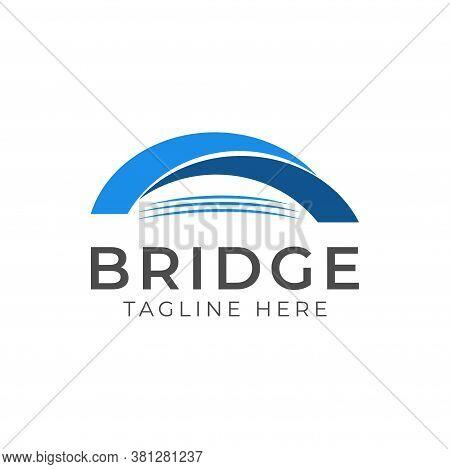 Abstract Bridge Logo Design Template Vector Illustration