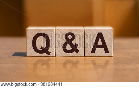 Q&a Or Questions And Answers Text On Wooden Blocks