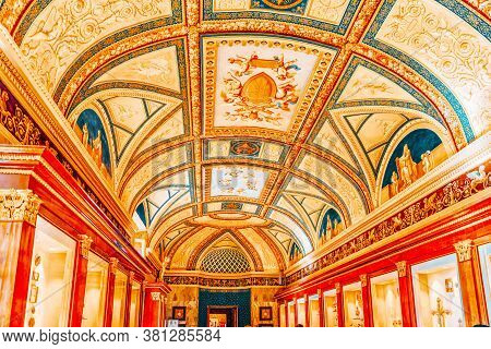 Vatican, Vatican - May 09, 2017: Inside The Vatican Museum, One Of The Largest Museums In The World,