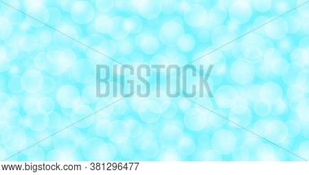 Light Blue Bokeh Soft For Background, Light Blue With Bokeh Backgrounds Banner