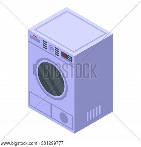 Laundry Tumble Dryer Icon. Isometric Of Laundry Tumble Dryer Vector Icon For Web Design Isolated On