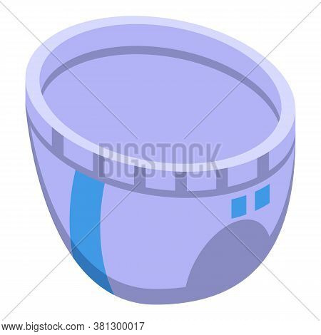 Soft Diaper Icon. Isometric Of Soft Diaper Vector Icon For Web Design Isolated On White Background