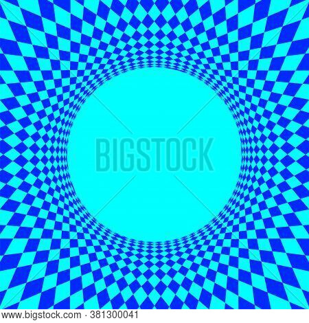 Geometric Art Abstract Blue For Background, Light Blue Spiral Optical For Hypnotic Wallpaper