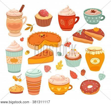 Pumpkin . Fall Season Aroma Product, Autumn Sweet Baking. Delicious Flavors Pastry Dessert, Food And