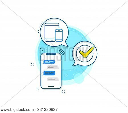 Smartphone And Tablet Pc Signs. Phone Messages Complex Icon. Mobile Devices Icon. Touchscreen Gadget