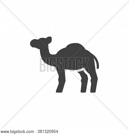 Camel, Animal Vector Icon. Filled Flat Sign For Mobile Concept And Web Design. Camel, Side View Glyp