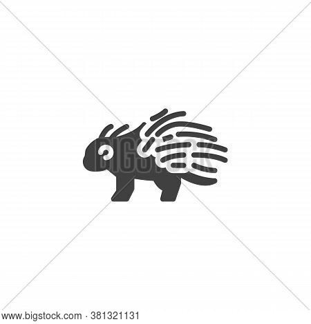 Porcupine, Animal Vector Icon. Filled Flat Sign For Mobile Concept And Web Design. Porcupine, Side V