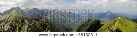 Panorama of peaks in the Western Tatras (Rohace) poster
