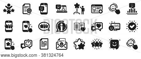 Set Of User Opinion, Customer Service And Star Rating Icons. Feedback Icons. Testimonial, Positive N