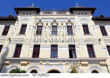 Sibiu City In Romania. Faculty Of Theology - University Of Sibiu.