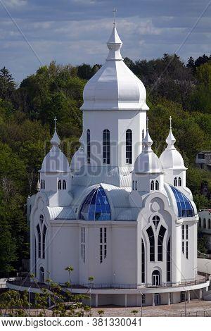 Kiev, Ukraine April 27, 2020: The Main Protestant Temple In Kiev