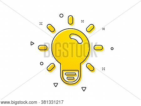 Lamp Sign. Light Bulb Icon. Idea, Solution Or Thinking Symbol. Yellow Circles Pattern. Classic Light