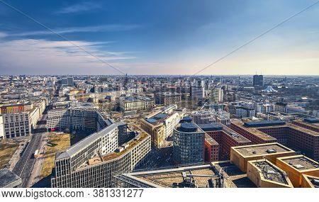 Summer Panorama Of Berlin, Seen From Potsdamer Platz