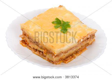 Lasagne On Plate