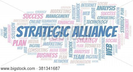 Strategic Alliance Word Cloud Create With The Text Only.