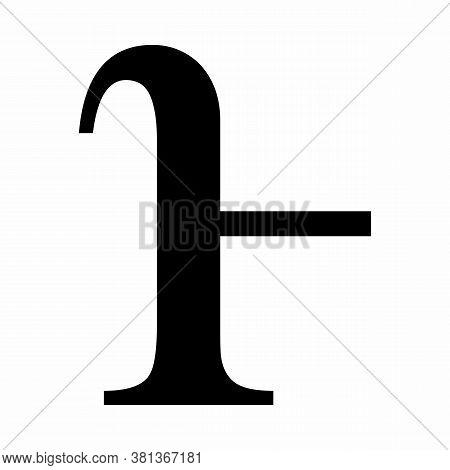 Lowercase Heta Greek Sign On White Background
