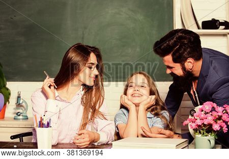 Good Learning Environment. Learners Must Feel Supported Welcomed And Respected. Mom And Dad Teachers