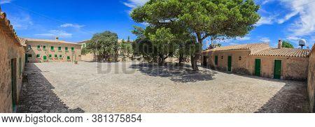 Courtyard Of The Monastery Of Santuari De Nostra Senyora De Cura