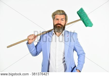 Staff Reductions Concept. Business Cost Reduction. Where Start Cleaning. Clear Reputation. Hipster H