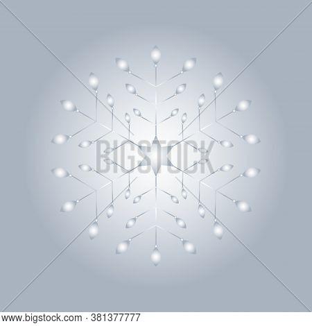 Pattern Christmas Theme. Snowflake. Luminous Light. Vector Illustration.